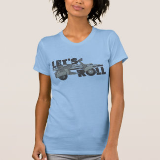 Let's Roll (Vintage style scooter inspired tee) T-Shirt