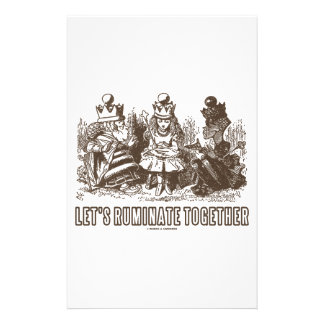 Let's Ruminate Together Alice Red White Queens Personalised Stationery