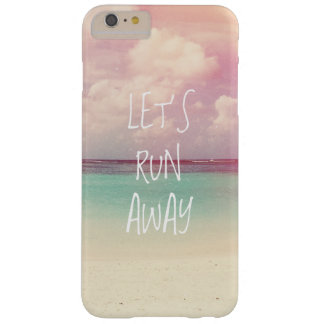 Let's Run Away Wanderlust Barely There iPhone 6 Plus Case