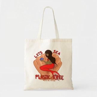 Lets sea plastic free! Red mermaid Tote