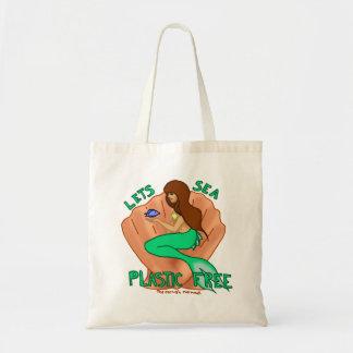 Lets sea plastic free! Teal mermaid Tote