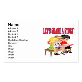 Lets Share A Story Pack Of Standard Business Cards