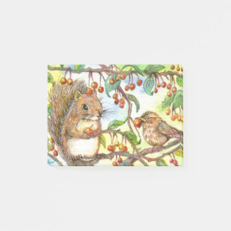 Let's Share - Squirrel And Sparrow Post-it® Notes