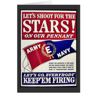 Let's Shoot For The Stars On Our Pennant Greeting Card