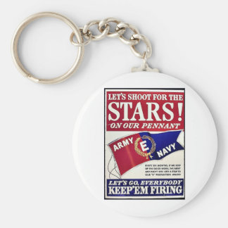 Let's Shoot For The Stars On Our Pennant Keychain