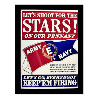 Let's Shoot For The Stars On Our Pennant Postcards