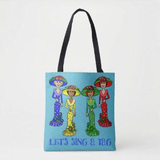 Let's Sing a Tag Ladies Tote Bag