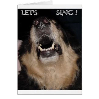 LET'S SING ! CARD