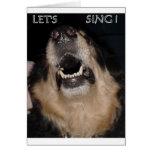 LET'S SING ! GREETING CARD