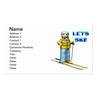 Lets Ski 2 Pack Of Standard Business Cards