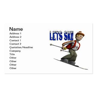 Lets Ski Pack Of Standard Business Cards