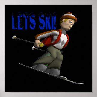 Lets Ski Print