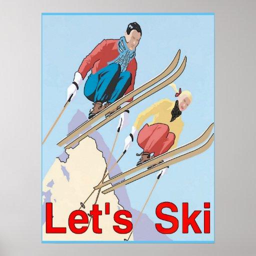 Let's Ski Poster