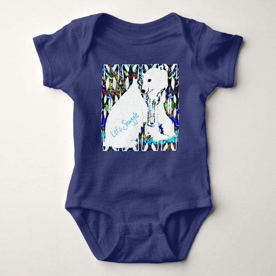 Let's Snuggle Polar Bear Baby Bodysuit