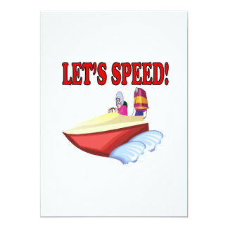 Lets Speed 13 Cm X 18 Cm Invitation Card