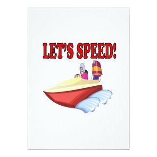 Lets Speed 13 Cm X 18 Cm Invitation Card