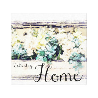"""""""Let's Stay Home"""" Watercolor Wall Art"""