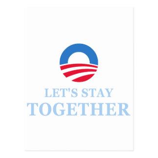 Let's Stay Together Postcard