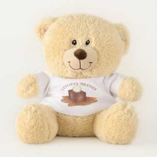Let's Stick Together British Sticky Toffee Pudding Teddy Bear