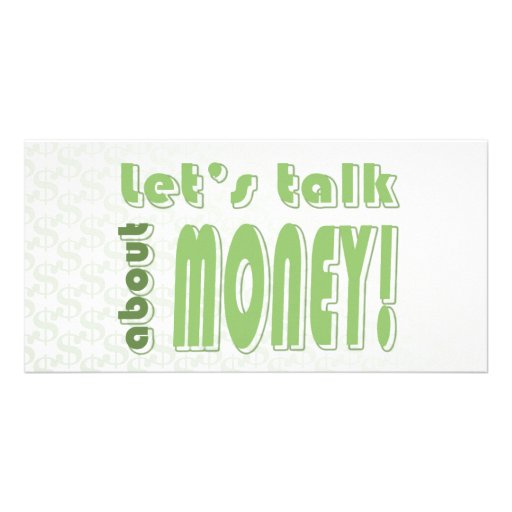 Let's talk about money photo card template
