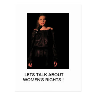 LETS TALK About Women s Rights Postcards