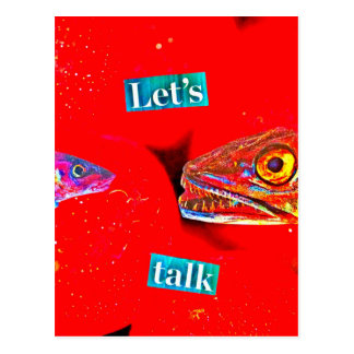Let's Talk Postcard