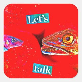Let's Talk Square Sticker