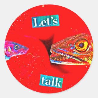 Let's Talk Round Sticker