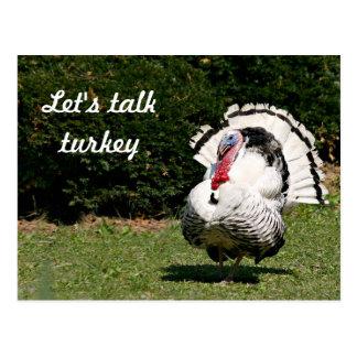 Let's talk turkey postcard