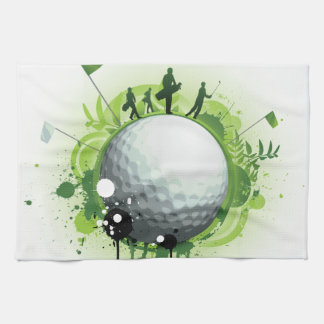 Let's Tee Off For Golf Tea Towel