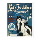 Let's Toddle at the Midnight Ball Postcard