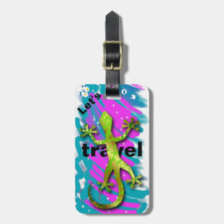 Let's Travel Gecko Luggage Tag