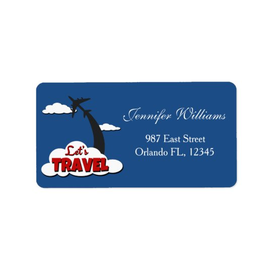 Let's travel label