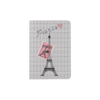 Let's Travel to Paris Eiffel Tower, Stamp, & Heart Passport Holder