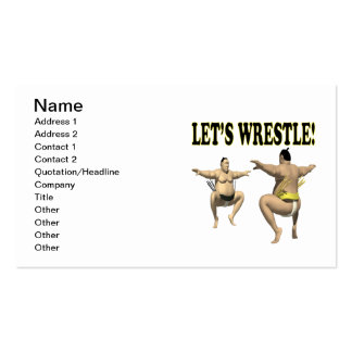 Lets Wrestle 3 Business Card Templates