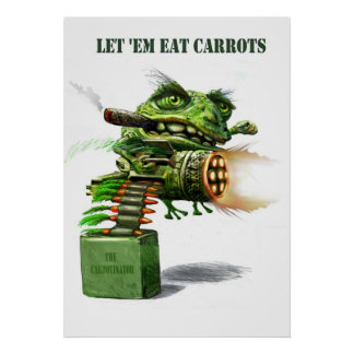 lettem eat carrots poster