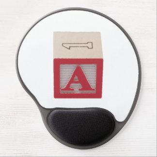 Letter A Alphabet Gel Mousepad