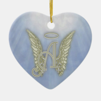 Letter A Angel Monogram Christmas Ornament