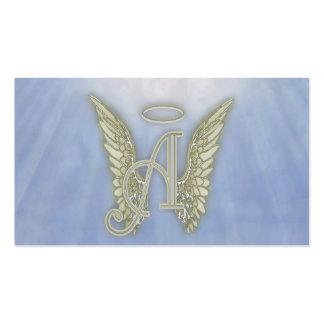 Letter A Angel Monogram Pack Of Standard Business Cards