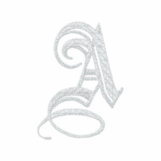 Letter A Fancy Monogram Embroidered Shirt
