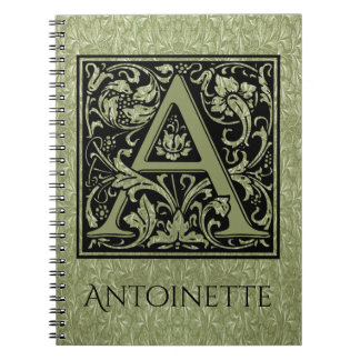 Letter A First Letter Monogram Notebook
