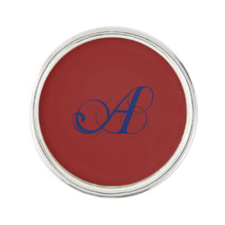 Letter A flourish Lapel Pin