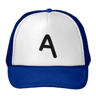 "Letter ""A"" Initial Hat"