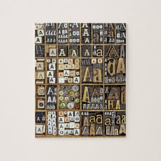 Letter A Jigsaw Puzzle