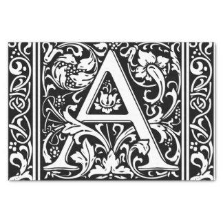 Letter A Medieval Monogram Vintage Initial Tissue Paper