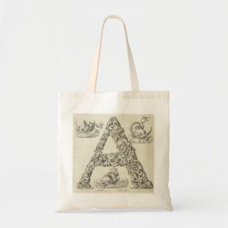 Letter 'A' Monogram Budget Tote