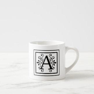 Letter A Monogram Espresso Mug