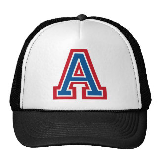 Letter A Monogram Hats