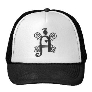 letter A monogram initial Mesh Hat