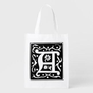 Letter A Monogram -  Reusable Tote Bag